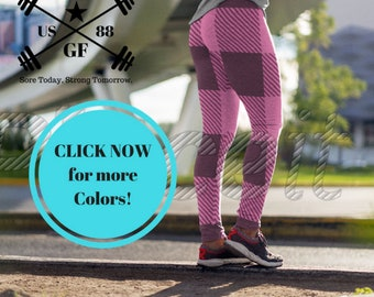 Grunt Fitness Pink Flannel Them Leggings