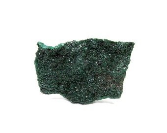 Malachite Specimen Dark Green Raw Crystal 30mm x 21mm Dark Green Sparkle Rough Stone (Lot 7023) Druzy