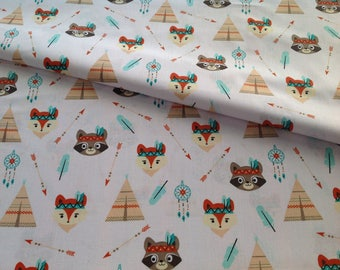 Printed fabric animal 100% cotton, accessories, upholstery, decor