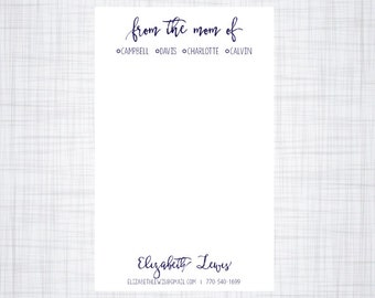 Mom Of Notepad. Personalized Notepad.