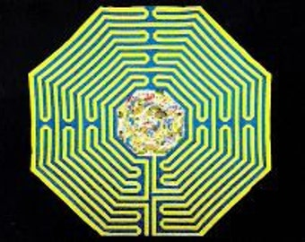 "Magic Dragon Labyrinth Quilt  (30""x30"")—FREE SHIPPING USA"