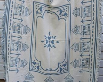 Vintage Cotton Blanket,Throw Blanket,Reversible,Home Decor