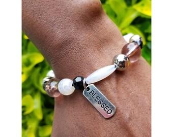 Blessed bracelet/ Bead bracelet/ Inspirational Jewelry