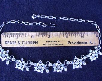 Vintage STAR Rhinestone Necklace(17)