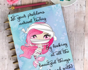 Planner Cover/ planner/ laminated/ Mermaid unravel your problems