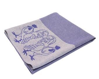 Semi Linen Tea Towel 47 x75, Linen Hand Towel Roosters, More Colors Available 1pcs