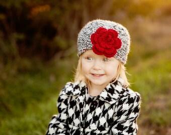 Girls Christmas Hat / Crochet Girls Hat / Girls Beanie / Girls Winter Hat / Crochet Baby Hat / Girls Hat / Gifts For Girls / Hats for Girls