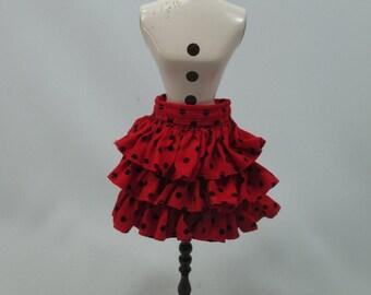Handmade outfit for Blythe doll layers polka dot skirt A-8