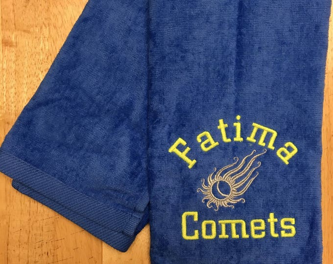 Mascot Sport towels, Personalized towel, team towels, team mascot  towels, Emberoidered Towel, Custom Embroidery, Sport Towels, Running