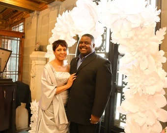 Paper Flower Wedding Arch and or Backdrop - 8ft