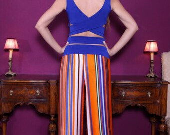 Jersey Tango Top with Crisscross Back | Milonga Clothing | Argentine Tango Clothing | Handmade