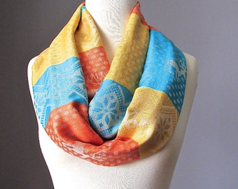 Deer scarf, infinity scarf, Christmas scarf, Gift for her, Pashmina infinity scarf