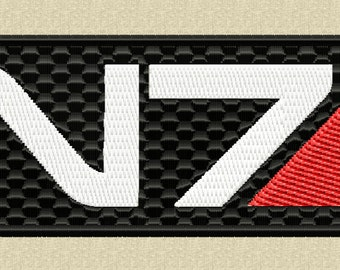 Mass Effect Embroidery Design - N7 - INSTANT DOWNLOAD
