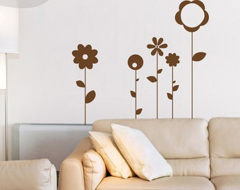 Abstract Flowers - Vinyl Wall Decal
