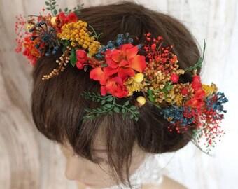 Wreath - Autumn - Red
