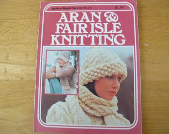 Aran & Fair Isle Knitting / Golden Hands Special No. 21 / Aran knitting patterns / Marshall Cavendish