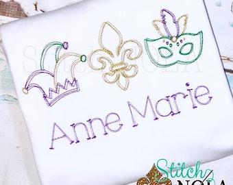 Mardi Gras Festival Vintage Stitch, Mardi Gras Shirt, Jester Hat Vintage, Vintage Fleur de lis, Vintage Mardi Gras Mask