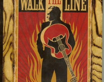 Johnny Cash - Walk the Line - Wooden Plaque