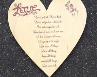 Love is patient heart plaque