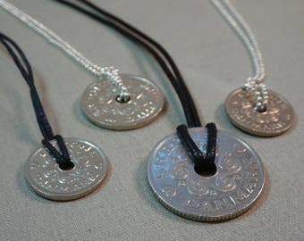 Danish 1, 2 and 5 Kroner Coin Necklace