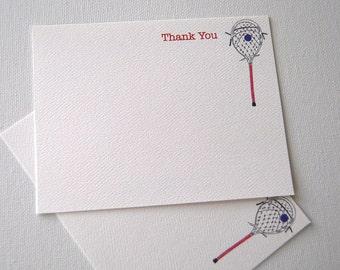 Goalie Stick, Lacrosse, Thank You, Note Cards, Coach, Sports Cards, Goalie, Card Set, Stationery, Illustration, Awards Dinner, Awards Gift
