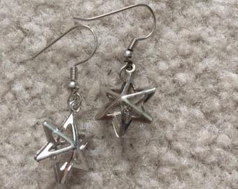 Silver starburst earrings