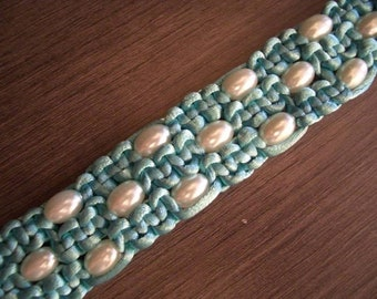 Turquoise Bracelet with Pearls