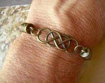 Infinity Bracelet with Antique Bronze Hardware, Infinity Bracelet,Infinity, Mens Bracelet, Womens Bracelet, Mens, Jewelry, Womens