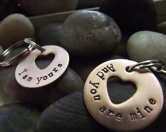 Ich bin dein und du bist mein Freunde Schlüsselanhänger, Jubiläumsgeschenk, Paare Schlüsselanhänger, Partner-Schlüsselanhänger