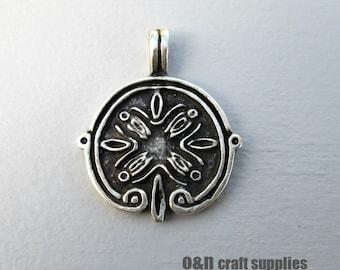 Engraved metal pendant, ancient greek pendant, 2