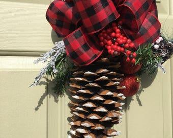 Christmas pine cone swag