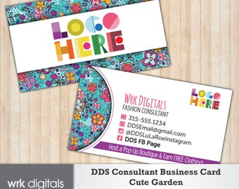 Dot Dot Smile Consultant Business Card, Cute Garden Design, Customized Business Card, Direct Sales, Fashion Consultant