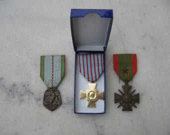 Three Good French WW2 Military Medals