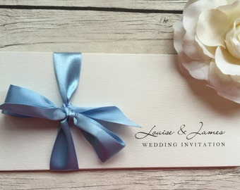 Triple Panel Wedding Invitation