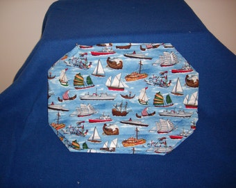 Fleet of Boats Placemats - Set of 4