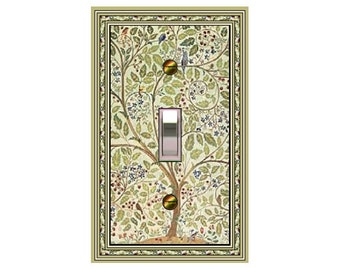 1626X - Art Nouveau Morris Willow Trees / Birds - mrs butler switch plate covers -