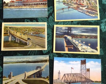 Vintage Linen postcards | Vintage Postcard Collection of Six