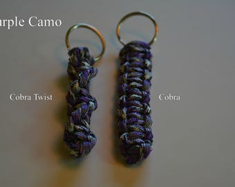 Paracord Keychain - Purple Camo