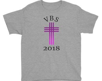 Vacation Bible School VBS Church 2018 Youth Short Sleeve T-Shirt