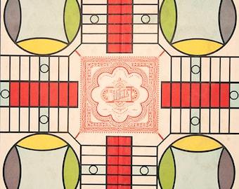 Vintage Parcheesi Game Board Photograph Fine Art Print