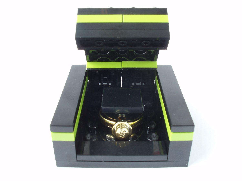 Engagement ring box Handmade with LEGO(r) Bricks Wedding Ring Box RING Sold Separately