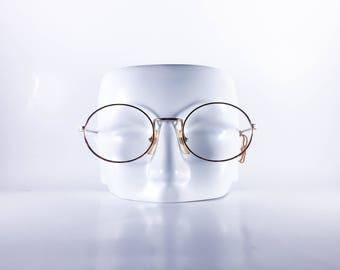 Nouvelle Vintage Eyeglasses Ovale 50-20 Unisex Metal NOS Deadstock-NouF466Y-1