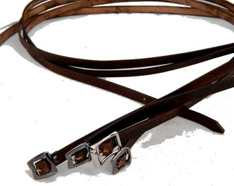 Leather skinny belt utility strap bag sling boheme indie couture romantic accessory clothing larp steampunk game of thrones warcraft costume