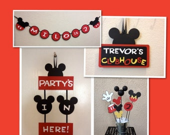 Mickey Mouse Birthday Table Centerpiece Mickey Mouse Birthday