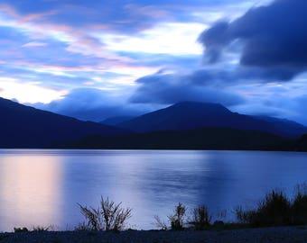 Loch Lomond Sunset Greetings Card