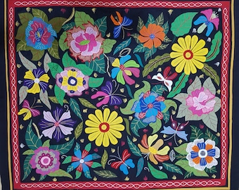 Gamal Kolthouma is showing an Exquisite and beautiful Floral Artistry, Detail along with his Egyptian Hand Applique . Tentmakers of Cairo!
