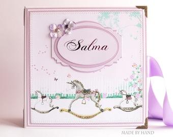 Custom Baby Photo Album, Baby Girl Memory Book, Custom Baby Book, Baby Scrapbook Album, Baby Shower Gift, New Baby Gift, Keepsake Baby Gift