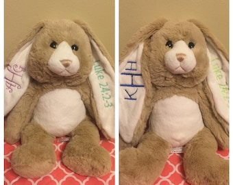 Monogram Easter Bunny Personalized Bunny Plush Rabbitt New Baby