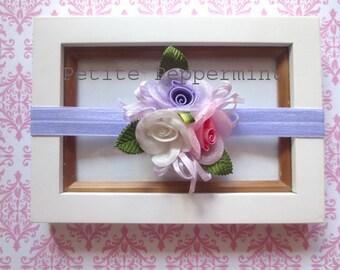 Lavender Baby headband, baby girl headband, newborn headband, toddler headband,Lavender Baby Hair Bow, Baby head band,baby girl head band