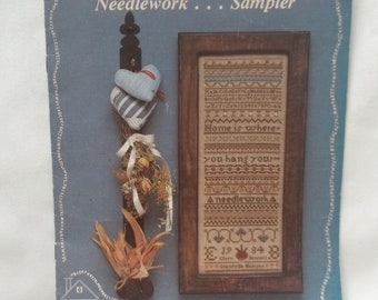 Sampler Cross Stitch Pattern Vintage Home Is Where You Hang Your Needlework